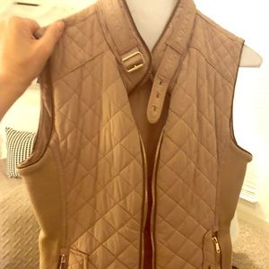 Zara Camel Quilted Vest Size XS